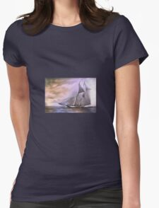 Schooner..... Womens Fitted T-Shirt
