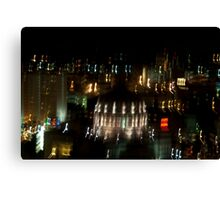 Boston: Night Life Canvas Print