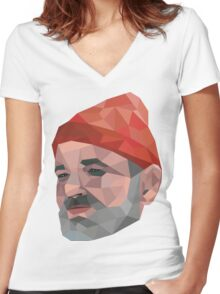 Steve Zissou - Bill Murray - Wes Anderson Women's Fitted V-Neck T-Shirt
