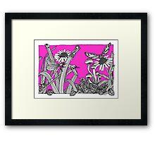 A Vivid Pink Big World Framed Print