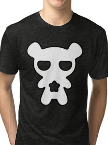 Lazy Bear Black and White Tri-blend T-Shirt