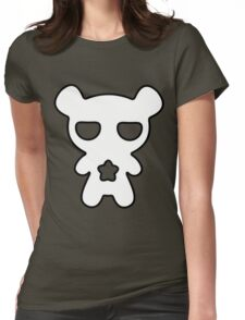 Lazy Bear Black and White Womens Fitted T-Shirt