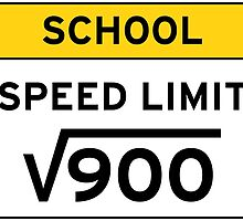 School speed limit square root 900 by funnyshirts