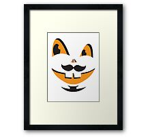 JACK-O-LANTERN smiley face cute smiles with teeth! Halloween! Framed Print