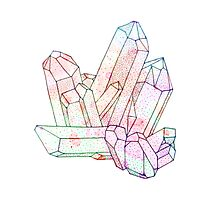 Technicolour Crystal Graphic Illustration Photographic Print