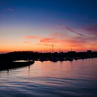 Arun estuary at Sunset by Kevin  Poulton