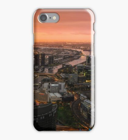 Moody Sunset Over Melbourne iPhone Case/Skin