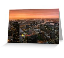 Moody Sunset Over Melbourne Greeting Card