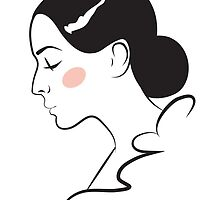 Female face. Profile. by Gribanessa