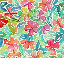 Tropical Floral Watercolor Painting by micklyn