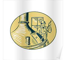 Brewermaster Brewer Brewing Beer Etching Poster