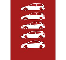 JDM Hatchback Evolution Photographic Print