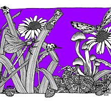 Pure Violet Big World by BelladonnaArt
