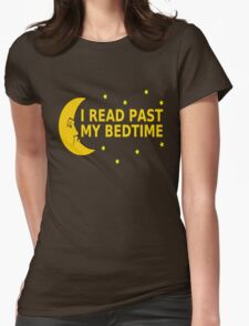I Read Past My Bedtime Womens Fitted T-Shirt