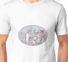 Judge Defendant Courtroom Etching Unisex T-Shirt