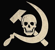 Cool death skull with hammer and sickle by funnyshirts