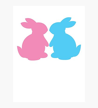 Cute little LOVE bunnies for Valentines Photographic Print
