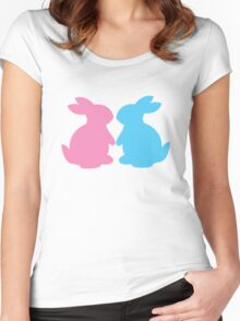 Cute little LOVE bunnies for Valentines Women's Fitted Scoop T-Shirt