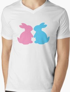 Cute little LOVE bunnies for Valentines Mens V-Neck T-Shirt