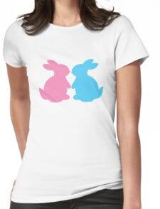 Cute little LOVE bunnies for Valentines Womens Fitted T-Shirt