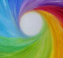 """Fine art. Abstract painting. Oil.""""Rainbow MOOD"""" :) Sticker"""