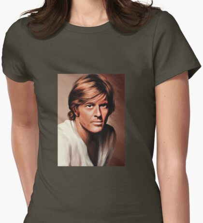 Robert Redford Womens Fitted T-Shirt