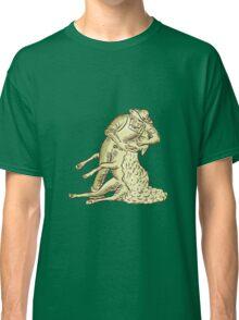 Farmworker Shearing Sheep Etching Classic T-Shirt