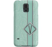 1920s Blue Deco Swing with Monogram letter V Samsung Galaxy Case/Skin