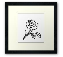 ROSE WOODCUT Framed Print