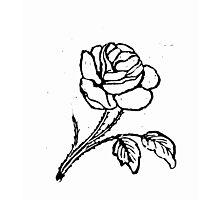 ROSE WOODCUT Photographic Print
