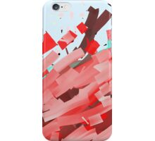 Canons of red, purple and brown ink. iPhone Case/Skin