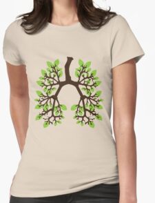 Breathe Green Womens Fitted T-Shirt