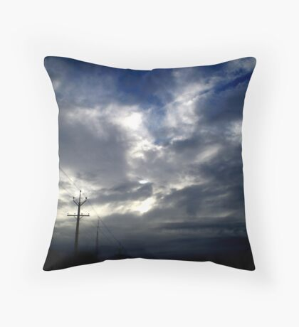 southern weather. Throw Pillow
