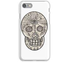 Sugar Skull Tattoo Etching iPhone Case/Skin
