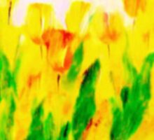 Tulips in Springtime'... Sticker