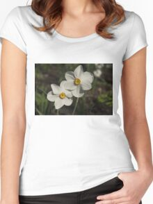A Pair of Fragrant Poet's Daffodils, Celebrating Spring Women's Fitted Scoop T-Shirt