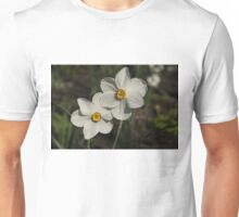 A Pair of Fragrant Poet's Daffodils, Celebrating Spring Unisex T-Shirt