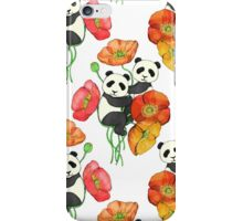 Poppies & Pandas iPhone Case/Skin