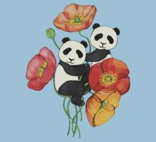 Poppies & Pandas One Piece - Short Sleeve