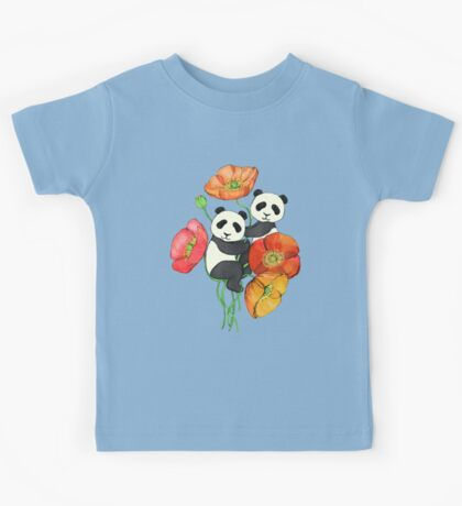 Poppies & Pandas Kids Tee