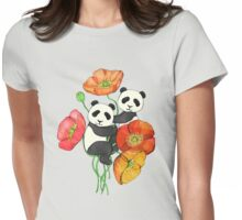 Poppies & Pandas Womens Fitted T-Shirt