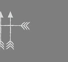4 arrows light grey/white by jazzydevil