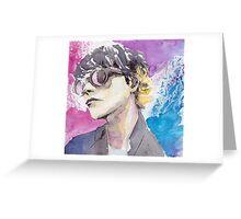 Gerard Way Art Is Smart Portrait  Greeting Card