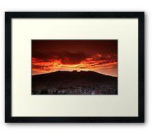 Volcano Moods Framed Print