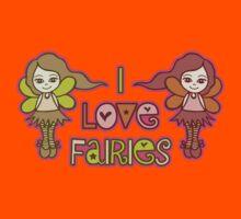 I Love Fairies Kids Tee