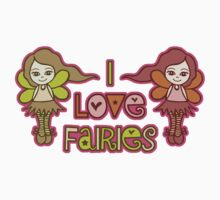 I Love Fairies Kids Tee