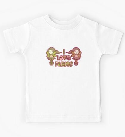 I Love Fairies Kids Clothes