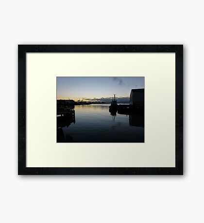Early morning in Wellington Harbour Framed Print