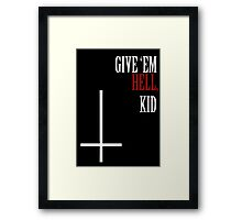 My Chemical Romance Poster Give 'Em Hell Kid Framed Print