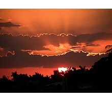 Copper Sunset Photographic Print